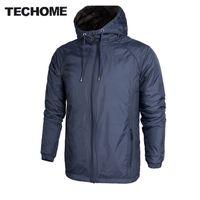 2017 Automne / Printemps Hommes Veste New Plus Velvet Épaississement Manteaux Haute Qualité Coupe-Vent À Capuche Jacke Chaud Vêtements Pour Hommes