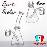 """Bécher 5 """"Quartz Banger avec un bol de 4mm d'épaisseur 5 pouces Mini Bongs Bol Plat Banger Nails Boîte Individuelle"""