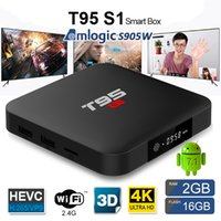 T95 S1 TV BOX Amlogic S905W Quad-core Android 7.1 2.4GWiFI 100M Lan tv box 2GB 16GB Lecteur multimédia intelligent x96 mini