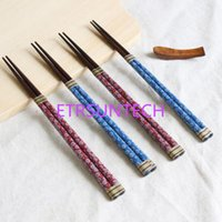 Japan Style Natural Wooden Sushi Chopsticks Pointed Red And ...