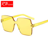 RBROVO 2018 One-piece Large Frame Occhiali da sole Donna Candy Color Luxury Occhiali da sole Classic Driving Oculos De Sol Feminino UV400