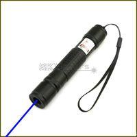 BX2-A 450nm 블랙 조절 가능한 포커스 블루 레이저 포인터 레이저 토치 펜 보이는 레이저 빔