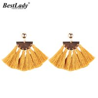 New Special Design Fringed Sector Pendant Tassel Statement E...
