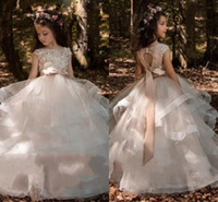 2018 Tiered Ruffles Organza Ball Gowns Girls Pageant Dresses...