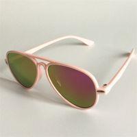 أزياء الأطفال قطع الكرتون النظارات الشمسية لون النظارات المضادة للأشعة فوق البنفسجية adumbra أطفال الحلوى الوردي نظارات الشمس نظارات ظلال