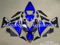 Carénages de moto ACE pour YAMAHA YZF R1 2009-2012 Compression ou Injection Carrosserie splendide bleu No.1137