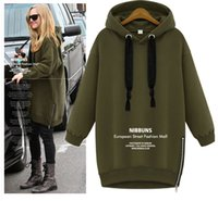 Letter Army Green New Winter Autumn Loose Hooded Jacket Plus...