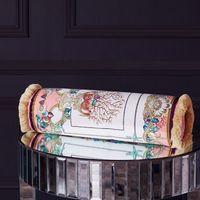 Мода новый европейский и американский стиль кисточкой конфеты форме цилиндрической подушки поясничной подушки предметы интерьера 15 * 50 см многоцветной опционально