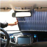 155 centimetri * 70 centimetri del parabrezza del parasole dell'automobile Auto retrattile laterale della finestra di protezione solare Schermo Parasole cortina frontale Parabrezza