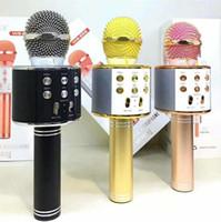 WS858 ميكروفون لاسلكي ماجيك KTV كاريوكي الغناء أغنية المحمولة لاعب مع مكبر الصوت مكبر صوت السحر بلوتوث للهواتف الذكية الروبوت فون