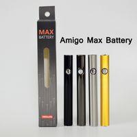 510 실 배터리 Amigo 최대 예열 펜 조정 가능한 전압 마이크로 USB 충전기 380mAh Vape 카트리지 배터리 기화기 펜 배터리
