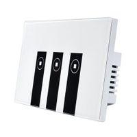 Funn-wifi Akıllı Alexa Işık Anahtarı, 3 Gang Dokunmatik Duvar Plakası Işık Anahtarı Paneli