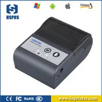 Mini imprimante thermique Bluetooth Bluetooth de 58mm pour une étiquette d'expédition Reception de factures Prise en charge des langages multiples et de code à barres HS-591AI