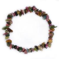 100% Real Natural Curación Piedras Peridot Aguamarina Cristal Amatista Turmalina Moonstone Beads Bracelet DIY Jewelry NSL001