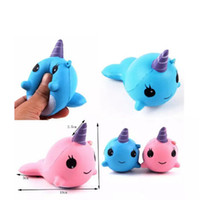 2018 Squishy Toys для детей медленный рост squishy Finger Doll Jumbo Squishy Unicorn Whales Toy Stretchy Animal Healing Stress Paste