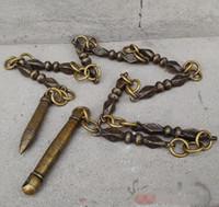 العتيقة النحاس تسعة القسم سوط الحلي فنون الدفاع عن النفس ممارسة سوط التحف البرونزية مجموعات متنوعة زخرفة الحرف
