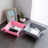 Foldable Multifunction Felt Tray Sundries Felt Storage Plate...