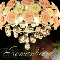 European Crystal ceiling lamp remote control bedroom lightin...