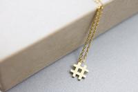 10 шт. золото / серебро модный первоначальный хэштег знак ожерелье символ # ожерелья типография геометрические ожерелье ювелирные изделия для любителей