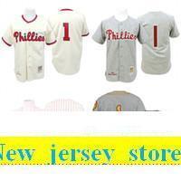 d702aa0e13d 2019 Cream 1948 Grey 1950 Richie Ashburn baseball Jersey , Men's #1 Mitchell  And Ness Pa Phillies