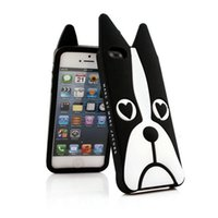 Funda para iPhone7 / 8 Funda protectora de silicona suave animal de dibujos animados lindo para Apple iPhone (perro, búho, cebra)
