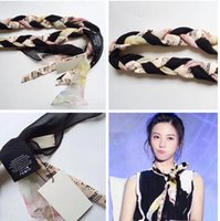 Designer Silk Cross Headband scarf for Women Luxury Brand Fl...