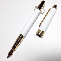 luxury 163 series mb fountain pen classique white resin gold...