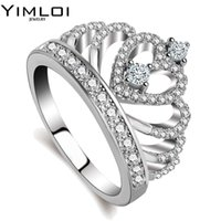 100% 925 Sterling Silver Color My Princess Queen Crown Engag...