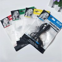1500 pçs / lote 10.5 * 15 cm Zipper saco De Varejo De Plástico pacote pendurar buraco embalagem fone de ouvido cabo opp saco de embalagem para fones de ouvido estéreo