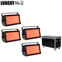 Flightcase Embalagem 4 pçs / lote Super brilhante 1000 W RGB Misturando Cor Strobe Light DMX Levou Luz Estroboscópica Para O Estágio