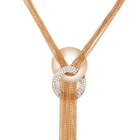 2017 длинные кисточкой ожерелье многослойные колье женщины золотой цвет Кристалл свитер Boho любовь colar цепи Макси ожерелья партия ювелирных изделий