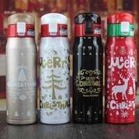 Christmas 500Ml Stainless Steel Vacuum Water Bottle Insulate...