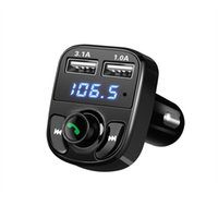 5V 4. 1A Dual Car charger with Car Kit Bluetooth MP3 Player H...
