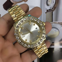 Big diamond relogio masculino Men' s Luxury Brand Date R...
