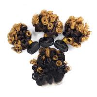 Dark Roots Tante Funmi Hair Bundles mit Verschluss Ombre Blonde 1B 4 27 Hair Weaves mit 4x4 Lace Closure