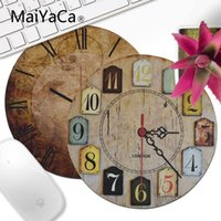 MaiYaCa Boy Gift Pad Retro wood clock Laptop Computer Mousep...