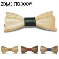 2016 Novidade tridimensional Gravata De Madeira Para Homens Erva Daninha Madeira Clássica Bowtie Madeira 3D Handmade corbata Gravatas De Madeira Gravata