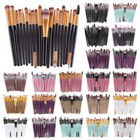 TOP 12sets / lot 20 pcs marque 20pc pinceaux de maquillage pinceau de maquillage professionnel avec la nature contour poudre cosmétiques pinceau pinceaux de maquillage