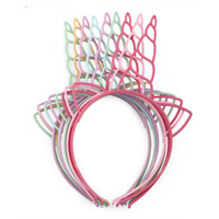 12pcs / lot ragazze Unicorn Hairbands Lovely Hair Hoop Principessa plastica Unicorn fascia per accessori per capelli di partito