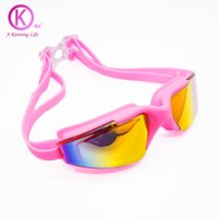 08457ebbd26 Wholesale clear plastic eyeglass cases for sale - Top Quality Swimming  Goggles Unisex Plating HD lenses