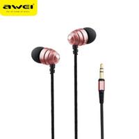 AWEI ES Q2 Auricolari Isolamento del rumore Super Deep Bass Auricolare In-Ear Style Auricolari per telefoni MP3 / MP4 Player 3.5mm Headset