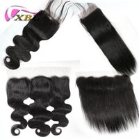 XBLHAIR Human Hair Brazilian Malaysian Peruvian Indian 13X4 ...