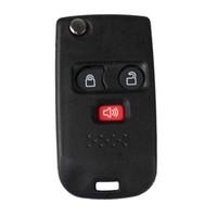 3 Düğme Değiştirme Anahtarsız Modifiye Çevirme Katlanır Uzaktan Fob Anahtar Shell Kılıf Için Araba Ford Cıva Anahtarı bıçak