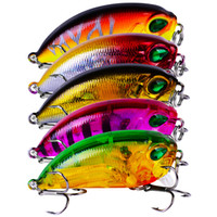 New Floating Swiming Popper Crank esche 5colors 5.3cm 8.17g Mini Fat Fish Plastica esche per laser Bass Crankbaits