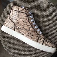New 2018 Men Women Snakeskin Genuine Leather With Brown Ends...