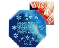Thème de Noël Nail Stamping Plaques En Acier Inoxydable Xmas Snowflake Designs Nails Art Template Outils De Manucure De Plaque D'image