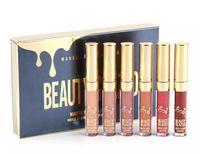 6pcs / lot matte Lippenstifte verblasst nicht Schönheit glasierte flüssige Lipgloss-Feuchtigkeitscreme-Geburtstags-Ausgaben-Lippenstift-Lippenverfassung