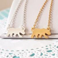 10 unids simple animal plana oso polar encanto pulsera salvaje animal forraje perro oso pulsera gatito perrito familia mascota pulsera para el mejor regalo