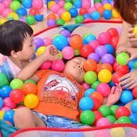 100 قطعة / الوحدة للبيئة ملون لينة البلاستيك بركة مياه المحيط الموجة الكرة الطفل مضحك لعب الإجهاد الهواء الكرة الاطفال في متعة الرياضة