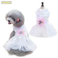 2018 nuevos vestidos de boda de las mascotas estrellas bordado partido de la falda de impresión Tutu Puppy Puppy ropa para perros pequeña chica Chihuahua 18